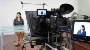 プロンプタを使ってインタビュー撮影