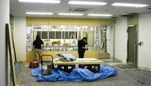 工事中のアルファビデオ新オフィス