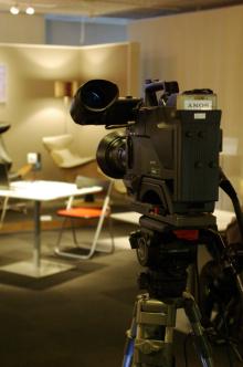 港区赤坂にあるビデオ制作会社のブログ-セミナー会場のカメラ