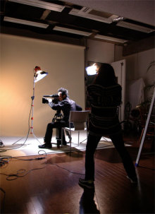 港区赤坂にあるビデオ制作会社のブログ-アルファビデオ赤坂スタジオでの撮影