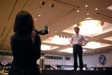 港区赤坂にあるビデオ制作会社のブログ-撮影リハーサル中