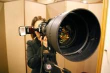 港区赤坂にあるビデオ制作会社のブログ-写真用巨大望遠レンズ