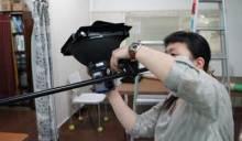 港区赤坂にあるビデオ制作会社のブログ-照明セッティング中